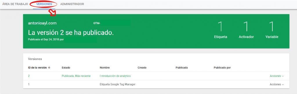 variable en google tag manager