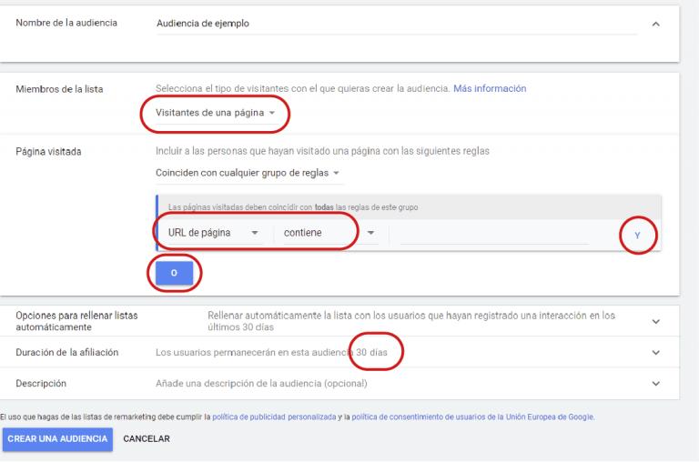 audiencias en google ads
