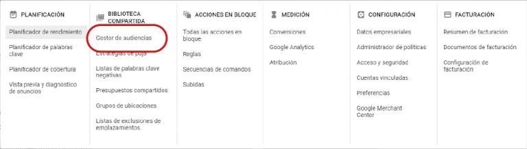 crear audiencias en google ads